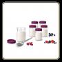 6 pots à yaourt en verre