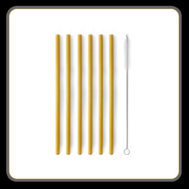 6 Pailles Bambou