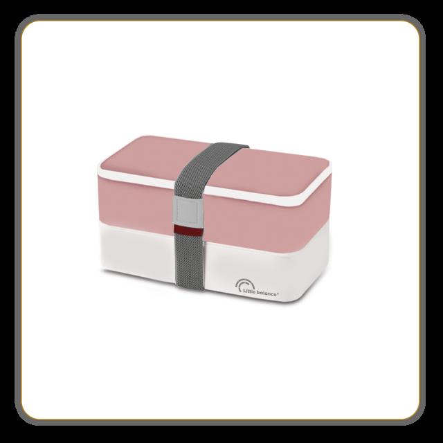 Lunchbox 2 étages - Rose et blanche